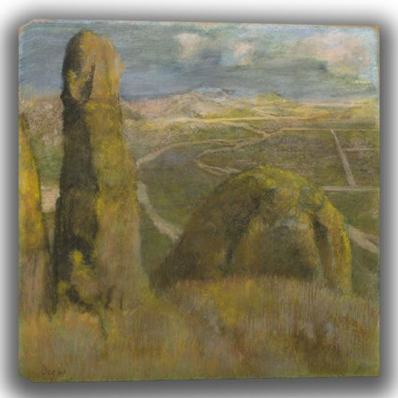 Degas, Edgar: Landscape. Fine Art Canvas (003751)